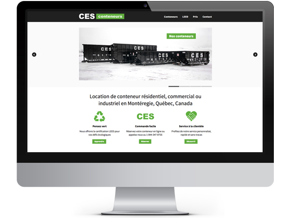 Bright Spot Studio client project: CES Conteneurs website