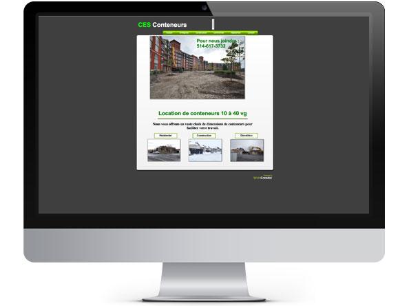 CES Conteneurs website before redesign